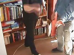 Hand Spanking using Leather Sandal