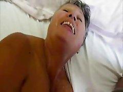 Cumming on my old slut !