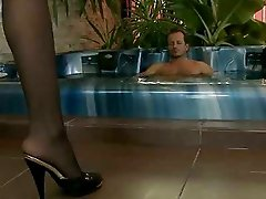 Jacuzzi foot fetish