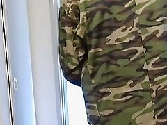 Its hot cock sucking action in barracks bathroom here