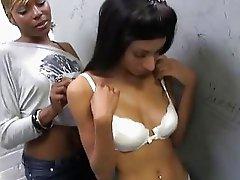 Rashae and Nadia Pariss taking a white cock