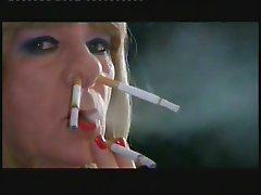 Samantha is made to nose smoke