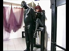 Redhead domina satisfying her needs