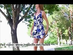 Thena _ Amateur babe showing us her ass and pussy in public