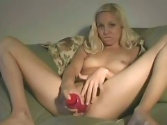 Blonde Girl And Her Dildo
