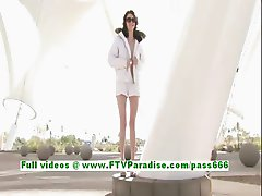 Sierra angelic brunette teenage public flashing tits and having fun