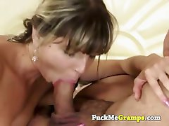 Big old dick deep in her mouth