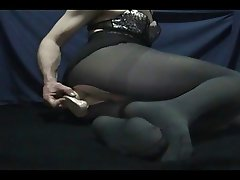 Dildo Tights Lingerie Cum