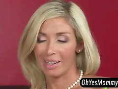 Tight blonde beauty Chastity Lynn gets her ass fucked in a horny threesome with her stepmom Evita Pozzi