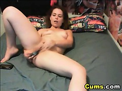 Horny Babe Sucks her Dildo and Drills her Pussy HD