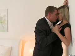 Blonde mature in pantyhose fucking