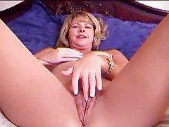 Meg - Fingering in Nude bodystocking