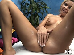 Attractive girlie is giving oral job
