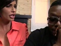 Heavy chested milf Shay Fox fucks a black guy