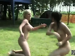 Hard catfight between mistress and cheated girlfriend
