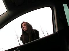 Hitch hiker Gina Devine public fucked