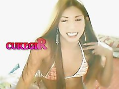 CUKEGIRL Sexy Bikini Asian Posing Webcam