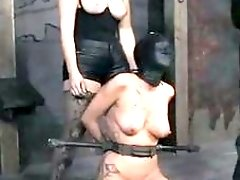 Tied up slave Trina Michaels humiliated by mistress BDSM porn