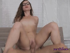 Naughty Geeky Babe Susen Loves Cock And Jizz