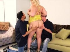 Big Booty White Wife Selah Rain Takes On Two Huge Cock