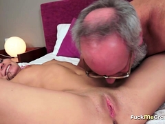 Coed Fucked and Facialized by Grandpa