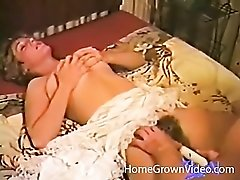 Vintage amateur threesome with hairy bush girls