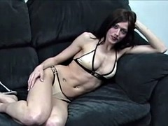 Casting amateur fitness girl