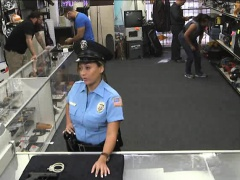 Huge jugs Police Officer screwed by pawn man at the pawnshop