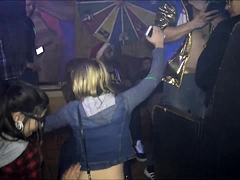Slutty blonde milf shows off her impressive blowjob talents