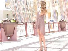 Leyla blonde nudity show pussy