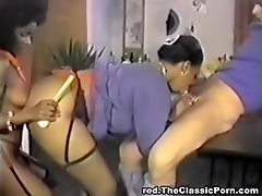 Various sex stuffs in ebony pussy