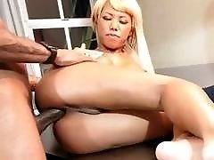 Rough anal fucking for ts Miran on top