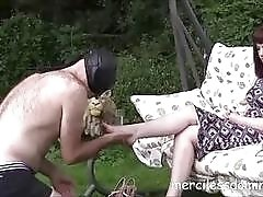 Mistress Zoe got her dirty feet licked by BDSM slave