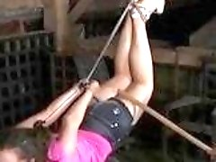 Bondage whore gets tied up tight and hard BDSM movie