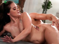 Sweet busty mademoiselle Gia Paige fucked in the doggy style