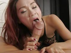 Tight ladyboy in bodysuit asshole rammed