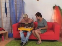 Pussy from MILF-MEET.COM - He fucks her shaved old pussy