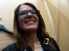 Beautiful czech sweetie is teased in the shopping centre and