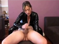 I am on MILF-MEET.COM - Catsuit handjob