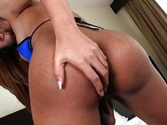 Asian Shemale Maya A Strokes Her Cock