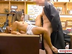 Perky tits woman drilled by pawn keeper at the pawnshop