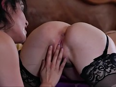 horny wife surprises her husband with a lesbian show with kasey warner