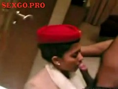 indian stewardess sucking on a cock