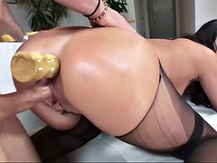 roxy raye gives wicked anal action with her phat ass in pantyhose