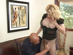 Busty TS Tyra Scott Gets Assbanged
