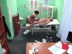 Hot milf sucking doctors cock