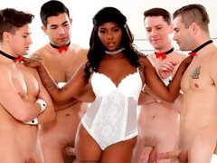 The hardcore ebony gangbang porn with a nice doll Daizy Cooper