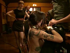 slutty ladies have some real fun in bondage scene