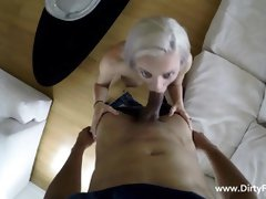 Horny blonde likes her job as an escort lady