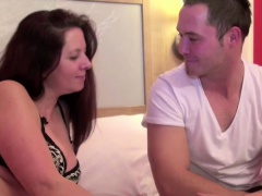 German Mom Steffi fucks with her Step-son when Dad away